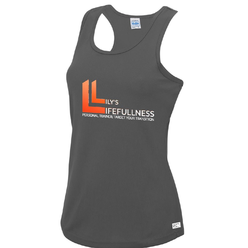 Lilys Lifefullness Womens Grey Performance Vest