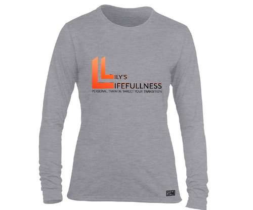 Lilys Lifefullness Womens Grey Long Sleeved Performance Tee