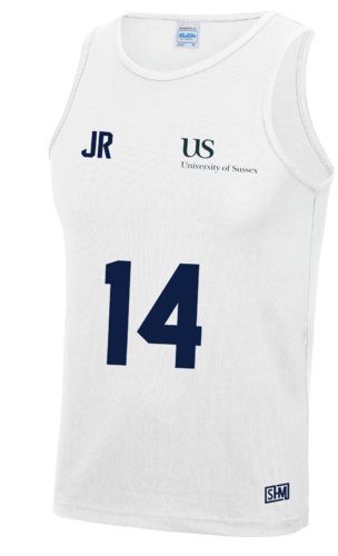 Sussex University Lacrosse White Performance Tank (Sussex Lacrosse On Back Of Tank)