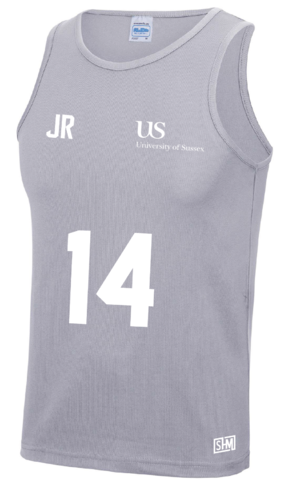 Sussex University Lacrosse Grey Performance Tank(Sussex Lacrosse On Back Of Tank)
