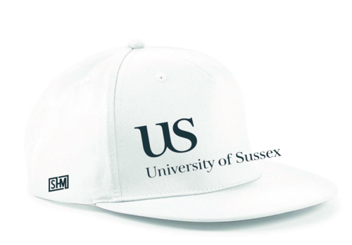 Sussex University Lacrosse White Snapback (Sussex Lacrosse On Back Of Snapback)