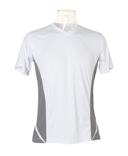 Contrast V Neck Performance Tee
