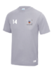 Bath Lacrosse Mens Grey Performance Tee (All Embroidery)