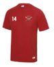Bath Lacrosse Mens Red Performance Tee (All Embroidery)