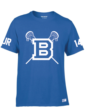 BLues Lacrosse Blue Mens Performance Tee (All Print)