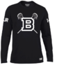 Blues Lacrosse Black Womens Long Sleeved Performance Tee