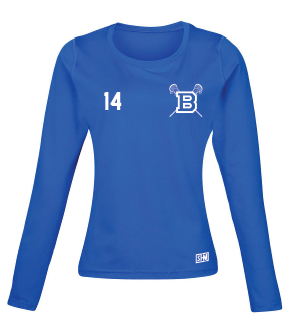 Blues Lacrosse Blue Womens Baselayer (All Print)