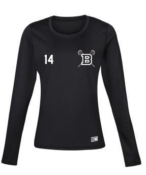 Blues Lacrosse Black Womens Baselayer (All Print)