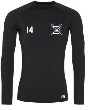 Blues Lacrosse Black Mens Baselayer (All Print)