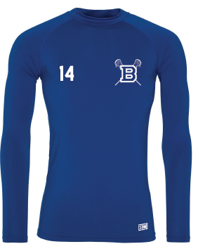 BLues Lacrosse Blue Mens Baselayer (All Print)