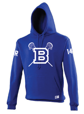 Blues Lacrosse Blue Mens Hoody (All Print)