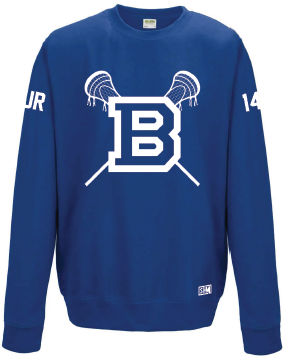 Blues Lacrosse Sweatshirt (All Print)