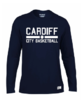 Cardiff City Basketball Navy Womens Long Sleeved Tee