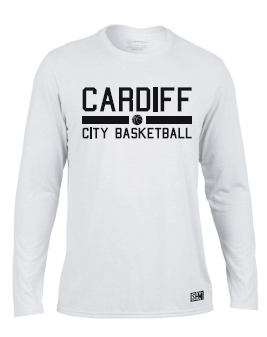 Cardiff City Basketball White Mens Performance Tee