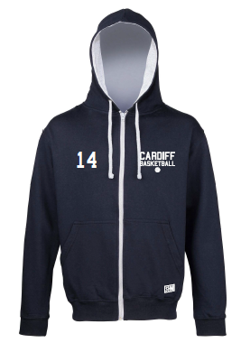 Cardiff City Basketball Navy Zip Up Hoody