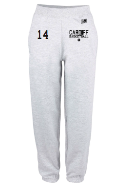 Cardiff City Basketball Grey Mens Sweatpants