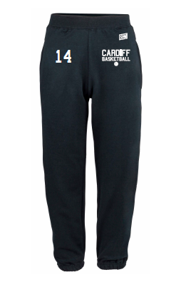 Cardiff City Basketball Navy Mens Sweatpants