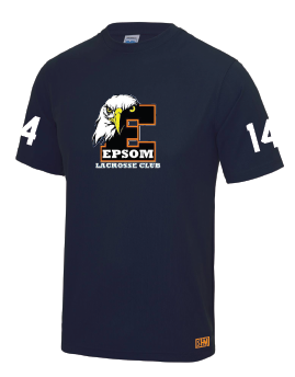 Epsom Lacrosse Performance Tee (SHM logo to be Orange)