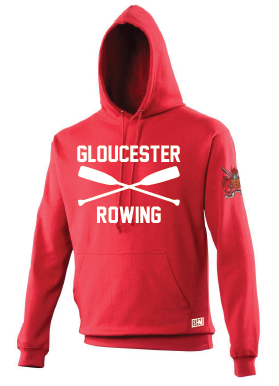 Gloucester Rowing Womens Red Hoody