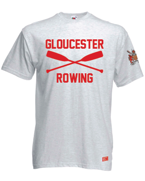 Gloucester Rowing Mens Heather Grey Cotton Tee