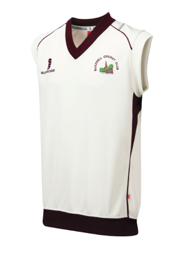 Bakewell Cricket Cricket Club Curve Sleeveless Sweater
