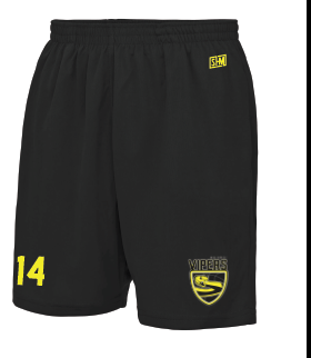 New Forest Vipers Black Training Shorts