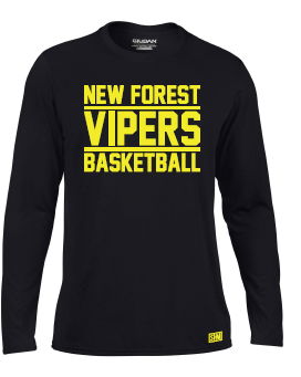 New Forest Vipers Black Childrens Long Sleeved Performance Tee