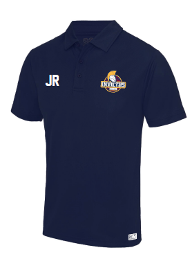 South Girls Invictus Navy Performance Polo