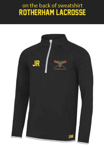 Rotherham Lacrosse Black Ladies Performance Sweatshirt
