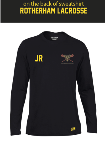 Rotherham Lacrosse Black Mens Long Sleeved Performance Tee