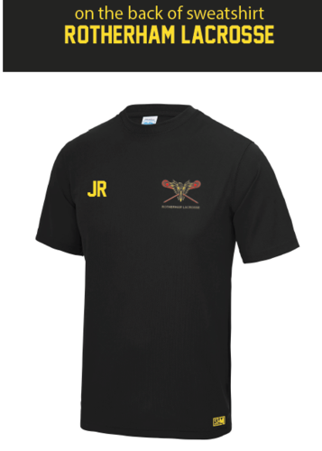 Rotherham Lacrosse Ladies Black Performance Tee