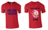 England Womens Lacrosse Red Cotton Tee