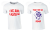 England Womens Lacrosse White Cotton Tee