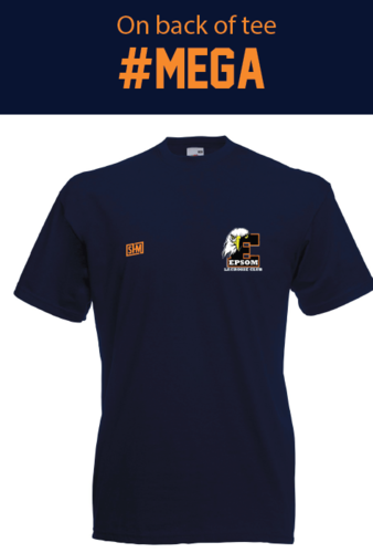 Epsom Lacrosse Mens Navy Cotton Tee