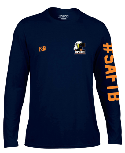 Epsom Lacrosse Mens Navy Long Sleeved Performance Tee