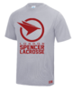 Spencer Lacrosse Mens Grey Performance Tee