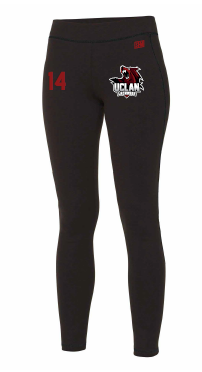 UCLan Lacrosse Black Womens Leggings