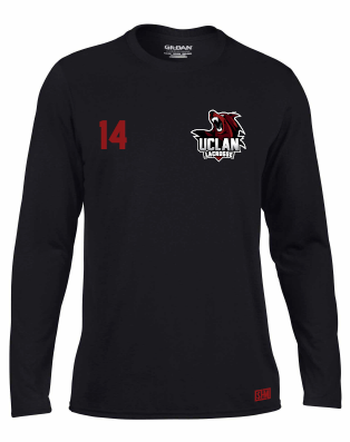 UCLan Lacrosse Black Mens Long Sleeved Performance Tee