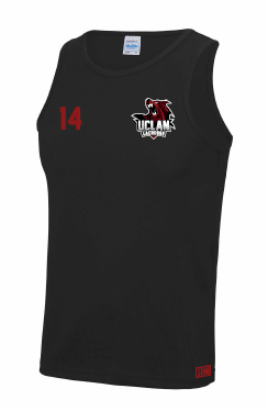 UCLan Lacrosse Mens Black Performance Vest