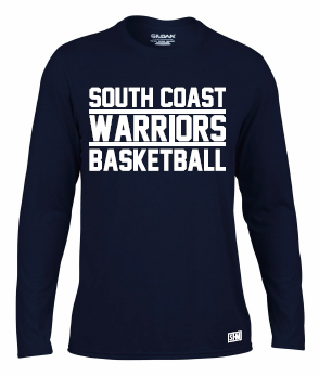 South Coast Warriors Womens Navy Long Sleeved Performance Tee