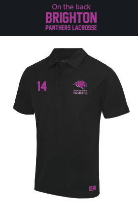 Brighton Panthers Mens Black Performance Polo