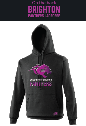 Brighton Panthers Mens Black Hoody 2 (Big Logo On Front)