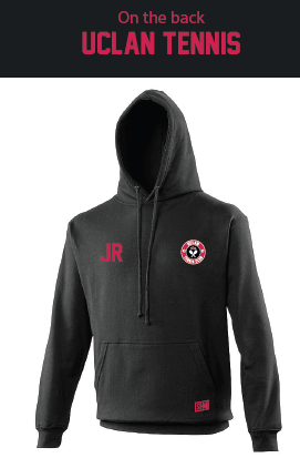 Uclan Tennis Black Womens Hoody