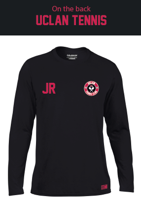 Uclan Tennis Black Mens Long Sleeved Performance Tee