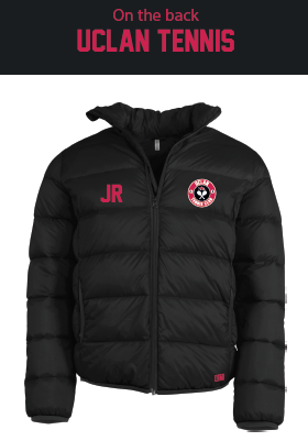 Uclan Tennis Mens Black Puffa