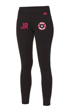 Uclan Tennis Black Womens Leggings