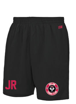Uclan Tennis Black Mens Shorts