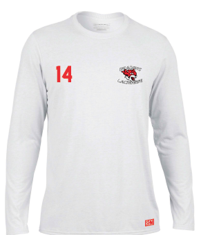 Reading Wildcats Mens White Long Sleeved Performance Tee