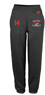 Reading Wildcats Black Mens Sweatpants