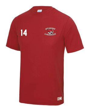 Reading Wildcats Red Womens Performancne Tee